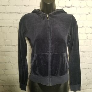 Juicy Couture full zip velour hoodie